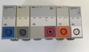 Einschub Module HP u. Philips Monitor - SET aus SpO2/PLETH CO2 NBP HZV EKG/RESP