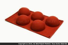 Paderno  Moule demi-sphère | Moule flexible en silicone - 5 demi-sphères