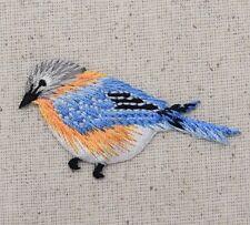 Natural Bluebird Blue Bird Facing Left - Iron on Applique/Embroidered Patch