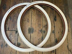 Pair of CST Classic Zeppelin Cream / White City Tyre. 700 x 47 (ETRTO 47-622)