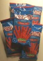 5 Pack Licorice Red Vines Original Red American Licorice Candy Twists 5.5 oz