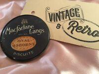 Antique Old Vintage Macfarlane Lang's Glass Pocket Mirror for purse or handbag