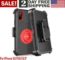 For iPhone Ten XS MAX Case Shockproof Heavy Duty Rugged Hybrid Hard Cover Kickst