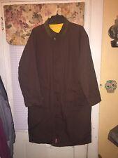 Marlboro Classics Reversible Long Rain Trench Coat Jacket Duster Sz Mens XL