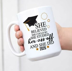 Graduation College Coffee Mug - She Believed She Could So She Studied Her Mug