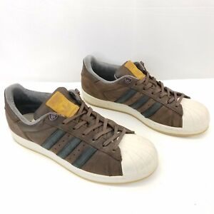 Adidas Stan Smith Brown Athletic Shoes Lace Up Sneakers Size 9.5 Style 789002