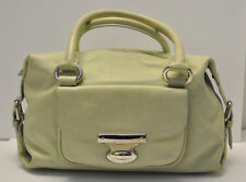 Stunning MARC JACOBS Light Lime Green Satchel Doctor's Leather Bag $1,147