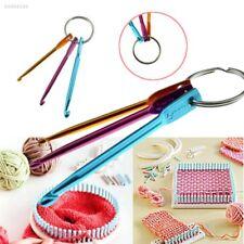 D026 3pcs Aluminum Knit Needle Crochet Hook Keychain Keyring Gift Knit Weave