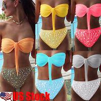 Women's Blink High Waist Bandage Bikini Set Push-up Bikini Swimsuit Monokini USA