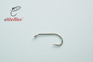 """Elite """"Platinum"""" Comp Barbless heavy size 10 fly tying hook , fly fishing, trout"""