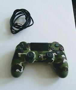 PS4 Controller Grün/ Green Camouflage mit Ladekabel