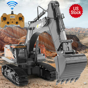 22 Channel 1:14 RC Construction RC Excavator Upgraded Metal Bucket -Latest Model
