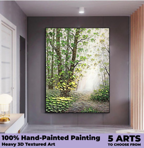 100% Hand Painted Oil Painting Handmade Canvas Wall Art Living Room Flower Decor