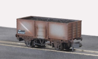 Peco NR-44BW N Gauge BR Grey Steel Mineral Wagon Weathered