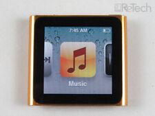 Apple iPod Nano 6th Gen Multitouch Clip A1366 EMC 2385 MP3 16GB Orange MC697LL/A