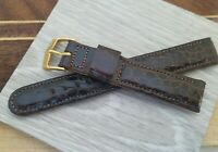 FD2: NOS 16mm GEMEX Chocolate Brown PADDED CHOICE ALLIGATOR 5/8 Watch Band Mens