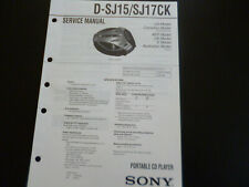 Original Service Manual Schaltplan Sony D-SJ15/SJ17CK