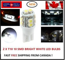 2X T10 LED White Xenon 10 SMD/5050/194Bulbs Light 168 W5W license Plate Wedge