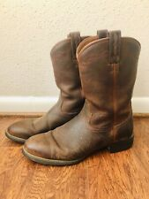 Gently Used $139 ARIAT Leather Heritage Roper Round Toe Work Boot Men's 11 D
