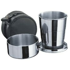 Large Telescopic Shot Cup with Leather Carrying Case