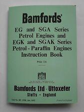 Bamfords EG, EGK, SGA & SGAK INstruction Book