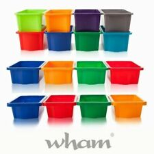 Wham Storage Boxes Stack & Store Strong Plastic Boxes - CHOICE OF 5 SIZES