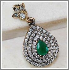 Handmade Emerald Topaz Fine Jewellery