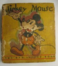 Mickey Mouse Big Little Book #717 Whitman Platinum Age 1933