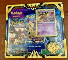 POKEMON TCG GIRATINA  BLISTER PACK INCUDES,  STEAM SIEGE, EVOLUTIONS, AND FATES