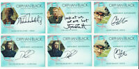 Orphan Black Season 1 Cryptozoic 2016 Autograph Card Selection DRP GM JF MNK