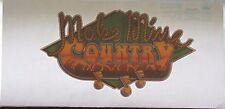 "Vintage 1980 Make Mine Country Iron On Heat Transfer 9 x 5"" Holoubek Studios"