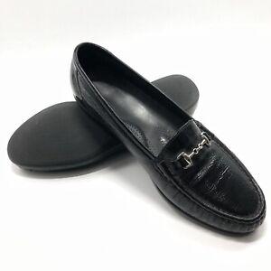 ✅❤️✅7$ SAS Metro women 11 W Black Patent Leather Comfort Horse Bit Loafer Shoes