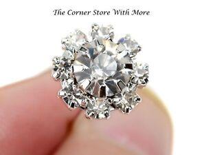 3 Diamante Crystal Hairpins Hair Pins Flower Fork Grip Styling Wedding Deb AUST