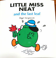 LITTLE MISS NEAT and the last leaf, By Roger Hargreaves - Children's Book