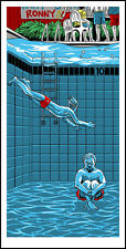 RUSHMORE Bill Murray Wes Anderson silkscreen print by Tim Doyle Nakatomi Artist