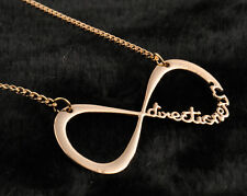 Films  Fashion 1D One Direction Infinity 8 Symbol forever love Gold Necklace