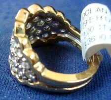 LADIES 14KYG DIAMOND 2.00CTW CLUSTER/BAND RING, 9.2GR (xpv202-09)