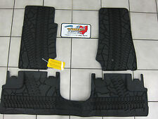 07-2013 Jeep Wrangler JK 4 Door Unlimited Mopar Rubber Floor Slush Mats OEM