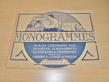 SONREL Monogrammes Album Modèles Alphabets Lingerie Linge de Maison BRODERIE