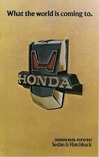 Honda Civic 1200 1976 USA Market Sales Brochure Sedan Hatchback