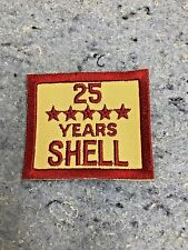 SHELL OIL GAS EMPLOYEE YEARS OF SERVICE PATCH NOS EMBLEM'S 25 Years Service