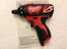 "New Milwaukee 2401-20 M12 12V 12 Volt 1/4"" Hex Cordless Screwdriver New Style"