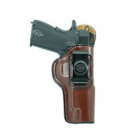 "GUN HOLSTER FOR KIMBER 1911 4"". IWB LEATHER HOLSTER CONCEAL CARRY."