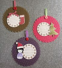 SALE Bulk Assorted LargE Christmas Handmade Gift Swing Tags - Stampin Up