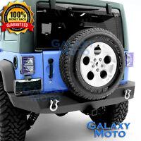Rock Crawler Heavy Duty FULL Width Rear Bumper+Hitch fit 07-17 Jeep JK Wrangler