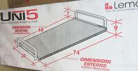 Lemca personal silver argento porta TV PC piano scorrevole made in Italy nuovo