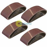 20 x Mixed Power Tool Sander Sanding Belt Belts 75mm x 457mm 40 60 80 120 Grit G