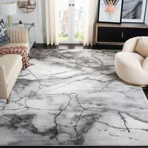 Margaretha Modern Abstract Rug  9' x 12'  Grey/Silver, polypropylene & polyester
