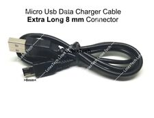 1 Micro USB  Charger Data Cable Lead w/8mm Extra Long Connector for Tablet PC