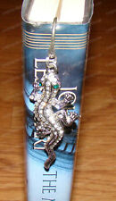 Green Eyed Lizard Bookmark (1455) Australian Crystals, Metal